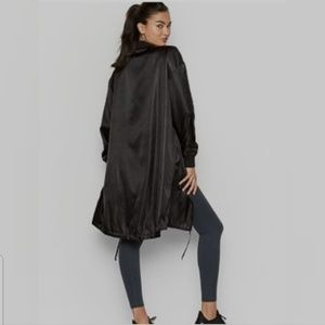 Victoria Secret Sport Long Black Trench Jacket